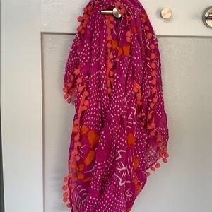 🆕Nordstrom halogen Brand  pink/white scarf